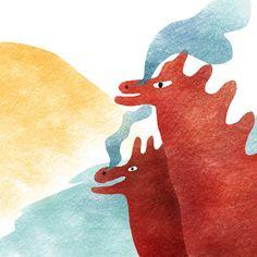 DISEGNI ALLA FINESTRA Silvia Caturano: Dragon for Illustration Friday
