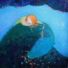 Cezara Kolesnik(born in Moldova, lives in France) Lay Me Down, Green Dragon, Naive, Fairy Tales, Childhood, Artsy, Moldova, Artwork, Crafts