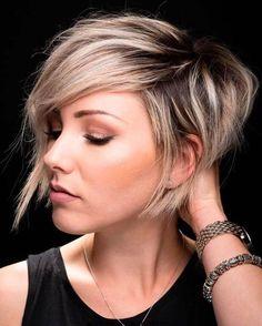 Asymmetrische Kurze Haare 2018 – 33-Haute-Kurze Frisuren ; Haarschnitte