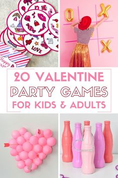 Valentine's Day is such a fun day to plan a party with friends and family! Here are 20 Valentine Party Games that are great for kids and adults so everyone is covered! day crafts for adults 20 Valentine Party Games for Kids and Adults