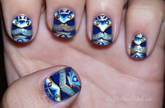 sweet tribal pattern nails