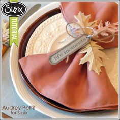 Sizzix Die Cutting Tutorial | Autumn Napkin Rings by Audrey Pettit