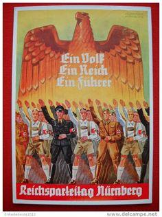 "NSDAP propaganda poster for ""Reichsparteitag-Nürnberg 1938""."