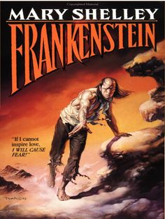 Frankenstein by Mary Shelley /Mary Shelley bet her husband she could write a better horror story than him. She did.