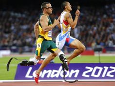 Oscar Pistorius at the London 2012 Games - inspiration indeed.