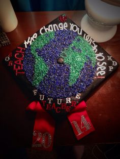 Teacher graduation cap Education major Geography teacher Future teacher