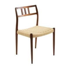 Moller Model No 79 Side Chair with Natural Woven Seat