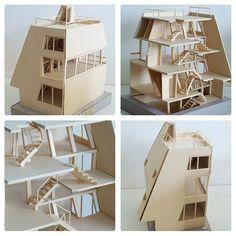 Maqueta de una casa, de Atelier BOW-WOW. Vía Facebook