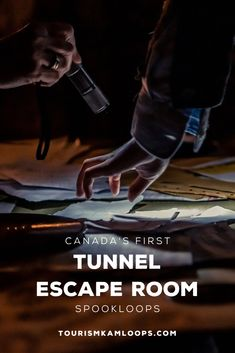 Try out Canada's first tunnel escape room at Tranquille Farm Fresh in Kamloops.
