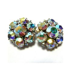 Rhinestone Earrings by Joseph Warner Aurora by BlackRockVintage