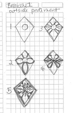 Design to draw - Draw Pattern - breaker 1 outside pediment... Draw Pattern & inspiration  Preview – Pattern    Description  breaker 1 outside pediment  – Source –