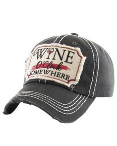 fe4527e2a39 It s Wine O Clock Baseball Cap Wine O Clock