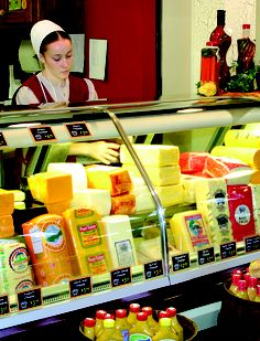 Walnut Creek Cheese is one of THE places to be in Ohio's Amish Country. Fresh meats and cheeses, an extensive grocery store, free donuts on Tuesday mornings, The Mudd Valley Creamery - it's all there! CLICK THE PHOTO for more about Ohio's Amish Country at www.OACountry.com! #Ohio #Amish #Cheese