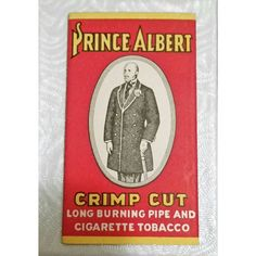 Art Deco TOBACCO Rolling Papers 1920s PRINCE Albert Cigarette Pipe Tobacco Smoking Vintage Tobacciana Ephemera Smokers Man Cave Gift NOS found on Polyvore