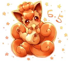 Most popular tags for this image include: vulpix, cute, pokemon, fire pokemon and fox