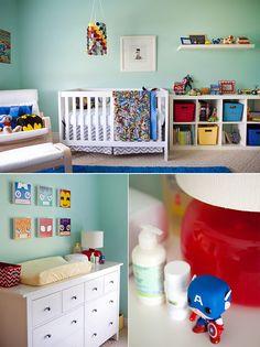 Superhero themed little boys nursery! Photography by: Maggie Russ Photo (http://maggierussophoto.com/)