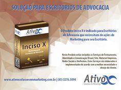 Boa Tarde Pessoal! Sabia que nós temos uma linha exclusiva de Produtos para Advogados e Escritórios de Advocacia? Então Conheça um deles: Produto Inciso X – Marketing para Escritórios de Advocacia! <br /><br />#AtivoxSoluçõesEmMarketing #MarketingParaAdvogados<br />http://bit.ly/2hnnyfI