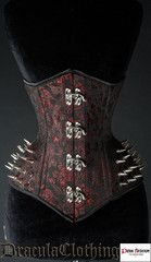 Spiked Red Extreme Waist Corset