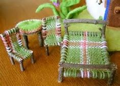 fairy twig furniture - - Yahoo Image Search Results #fairygardening