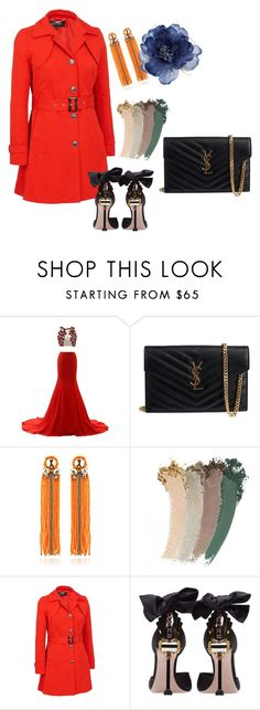 """""""Rainy Day At the Office"""" by toricut16 ❤ liked on Polyvore featuring Yves Saint Laurent, Begada, Gucci, Miu Miu, Accessorize and plus size clothing"""