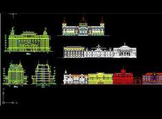 European-style building elevation,Free Autocad Drawing, Cad Blocks