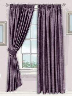 full and sumptuous, these gorgeous curtains will create a beautiful cascading effect at your window, filling your home with a sophisticated style... #faux #silk #curtain
