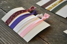 DIY elastic hair ties and headbands