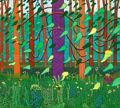 Yorkshire Woods, David Hockney.