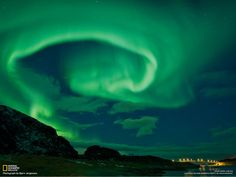 Above the Sommarøy bridge on the island of Kvaløy, Norway. #northernlights #auroraborealis