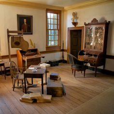 George Washington's study in his home, Mount Vernon- love the natural, simple beauty