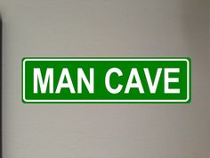 Man Cave Aluminum Street sign outdoor by GraniteCityGraphics Aluminum Signs, Street Names, Outdoor Signs, Window Decals, Street Signs, Man Cave, Truck, Lettering, Car