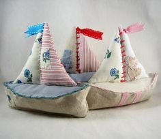 Madison Avenue Baby Craft & Decorate: Fabric Sail Boat - Lovely!