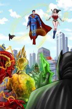Justice League by ~Nezotholem
