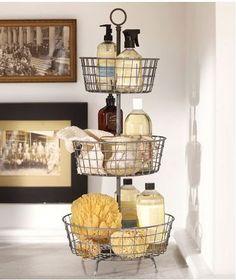 Cute Ideas for Bathroom Storage homediycenter.com... #homeorganization101 #homeorganizing