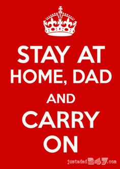 Carry on, stay-at-home dads. Carry on. #parenting #fatherhood #humor