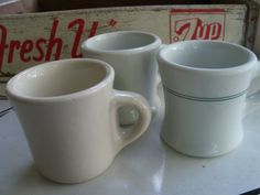 Vintage Restaurant Ware Coffee Mugs  Cafeteria Style by toby11, $18.00