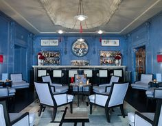The Blue Bar at the Berkley Hotel Stealing the colour scheme and the chairs