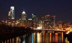 Philadelphia Night Skyline   Flickr - Photo Sharing!