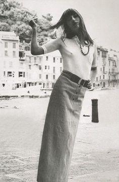 Jane Birkin photographed by Alex Chatelain, 1970.