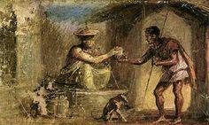 Jahrhundert - Traveller and Magician / Pompeii x cm) Pompeii Ruins, Pompeii And Herculaneum, Ancient Rome, Ancient History, Fresco, Naples, Ruined City, Classical Mythology, Art Antique