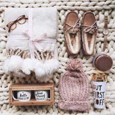 Shoes: tumblr chunky knit blanket slippers glasses beanie pom pom beanie watch loafers moccasins