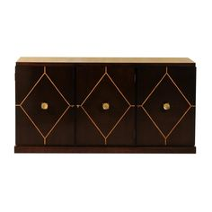Elegant Restored Mahogany Cabinet or Buffet by Tommi Parzinger for Charak Modern   From a unique collection of antique and modern buffets at https://www.1stdibs.com/furniture/storage-case-pieces/buffets/