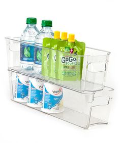 Look what I found on #zulily! 15'' x 4'' Clear Refrigerator Organizer - Set of Two by Dial #zulilyfinds