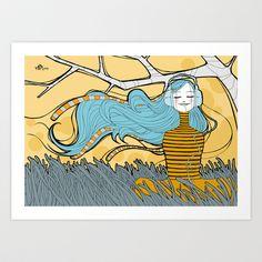 Listening+Art+Print+by+Mef+-+$15.00