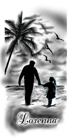 Mom Dad Tattoos, Leo Tattoos, Watch Tattoos, Family Tattoos, Arrow Tattoos, Daddy Daughter Photos, Father Daughter Tattoos, Father Tattoos, Tattoos For Daughters