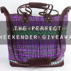 Win $190 Huipil Weekender #Bag ^_^ http://www.pintalabios.info/en/fashion_giveaways/view/en/2317 #International #Accessories #bbloggers #Giweaway