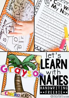 Free Name writing practice pages! These free printable pages are great for teaching students how to write their names! You can even edit them to spell out your child's name for them to trace to start off. #writingpractice #writing #writeyourname #namewriting #freeprintable #editableprintable #mrsjonescreationstation