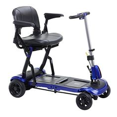 Drive Medical ModelFLEX ZooMe Flex Ultra Compact Folding Travel 4 Wheel Scooter Blue  FREE OPCTM Wheelchair Medical Utility bag * Offer can be found by clicking the image