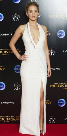 Look of the Day - November 11, 2014 - Jennifer Lawrence in Mugler from #InStyle