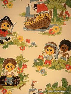 Vintage Wallpapers (33) by www.cityzine.be, via Flickr